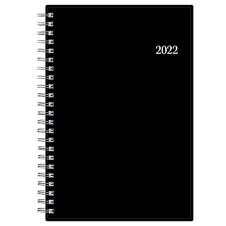 """Blue Sky™ Weekly/Monthly PP Safety Wirebound Planner, 5"""" x 8"""", Enterprise, January To December 2022, 111291"""