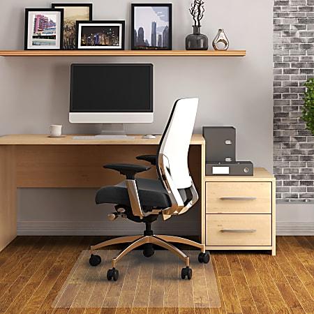 "Cleartex Advantagemat PVC Chair mat, For Hard Floors, 45"" x 53"""