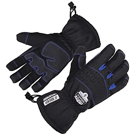 Ergodyne ProFlex 819WP Extreme Thermal Waterproof Gloves, Medium, Black