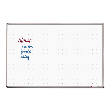 "Quartet® Total Erase Dry-Erase Whiteboard, 48"" x 72"", Aluminum Frame With Silver Finish"