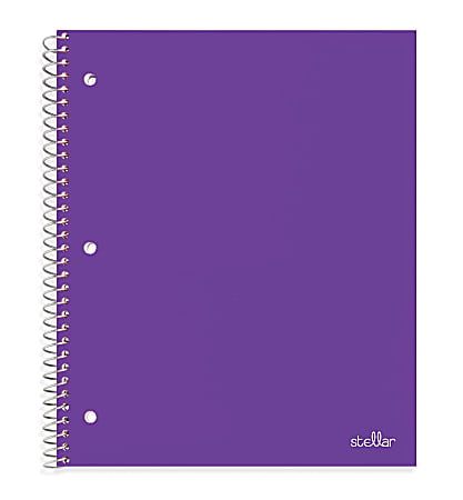 "Office Depot® Brand Stellar Poly Notebook, 8-1/2"" x 11"", 1 Subject, College Ruled, 200 Pages (100 Sheets), Purple"