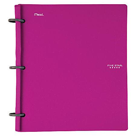 """Five Star® Flex® Hybrid NoteBinder, 1"""" Round Rings, Purple"""