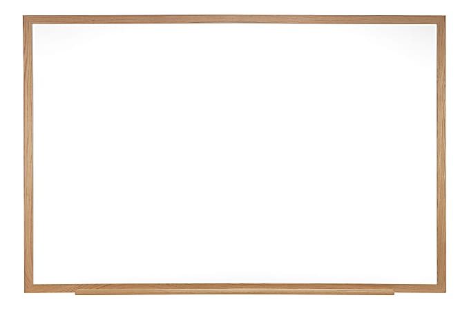 "Ghent Magnetic Dry-Erase Whiteboard, 48 1/2"" x 48 1/2"", Natural Wood Frame With Oak Finish"