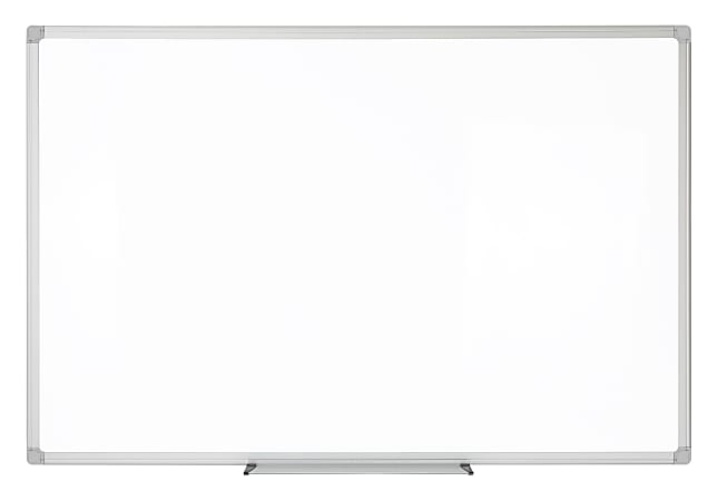 """Realspace™ Porcelain Magnetic Dry-Erase Whiteboard, 36"""" x 48"""", Aluminum Frame With Silver Finish"""