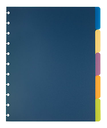 TUL® Discbound Tab Dividers, Letter Size, Assorted Colors