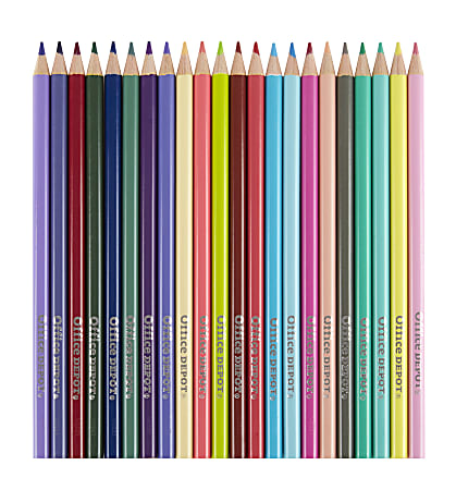 Office Depot® Brand Color Pencils, 2.9 mm, Assorted Colors, Pack Of 220 Pencils