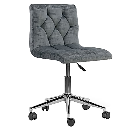 Glamour Home Amali Office Chair, Gray