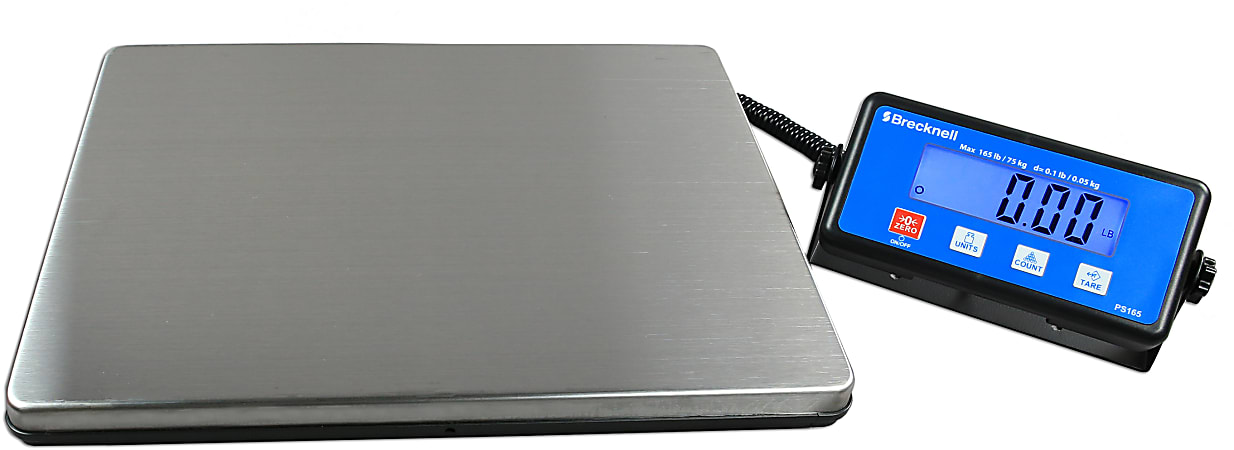 Brecknell® PS165 Portable Digital Shipping Scale, 165-Lb/75-Kg Capacity