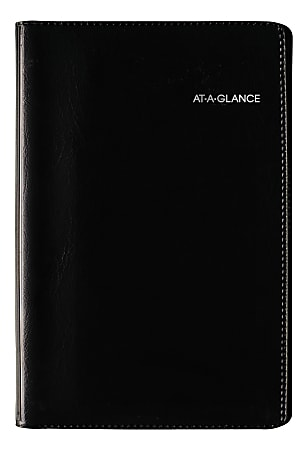 "AT-A-GLANCE® DayMinder® Pocket Weekly Appointment Book, 3-3/4"" x 6"", Black, January To December 2021, AAGG23500"