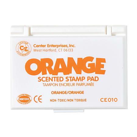 "Center Enterprise Scented Stamp Pads, Orange Scent, 2 1/4"" x 3 3/4"", Orange, Pack Of 6"