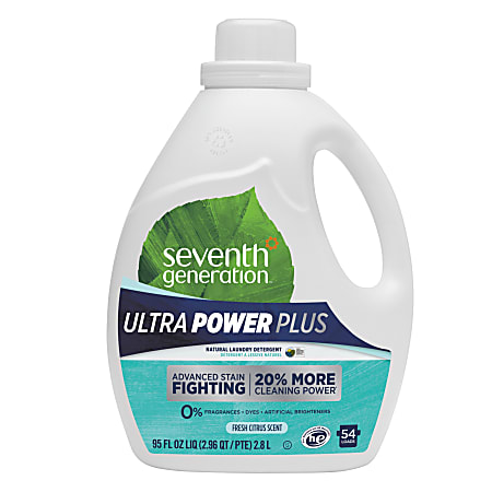 Seventh Generation™ Natural Liquid Laundry Detergent, Fresh Citrus Scent, 95 Oz, Pack Of 4 Containers