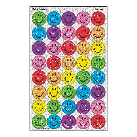 TREND superSpots® Sparkle Stickers, Silly Smiles, Pack Of 160