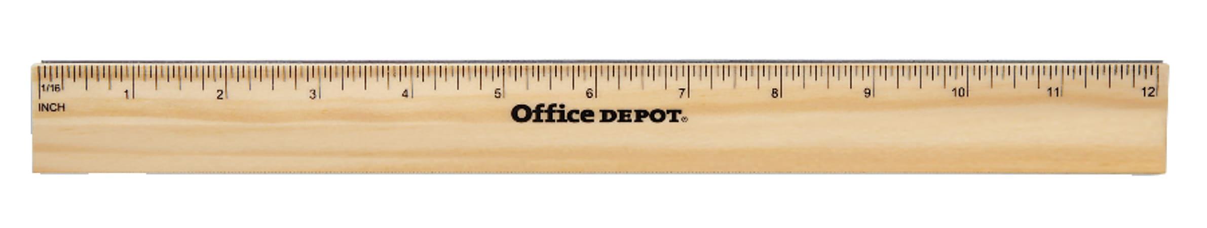 "Office Depot® Brand Wood Metal-Edge Ruler, 12"""