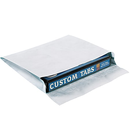 "Tyvek® Envelopes, Expandable, 10"" x 13"" x 2"", Side Opening, White, Pack Of 100"