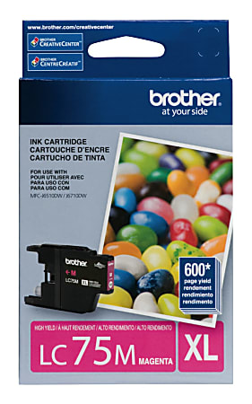 Brother® LC75M High-Yield Magenta Ink Cartridge