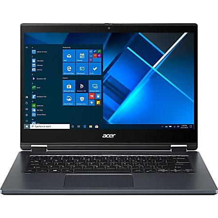 "Acer P414RN-51 TMP414RN-51-76AV 14"" Touchscreen 2 in 1 Notebook - Full HD - 1920 x 1080 - Intel Core i7 i7-1165G7 Quad-core (4 Core) 2.80 GHz - 16 GB RAM - 512 GB SSD - Slate Blue - Windows 10 Pro - Intel Iris Xe Graphics"