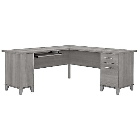 """Bush Furniture Somerset 72""""W L-Shaped Desk, Platinum Gray, Standard Delivery"""