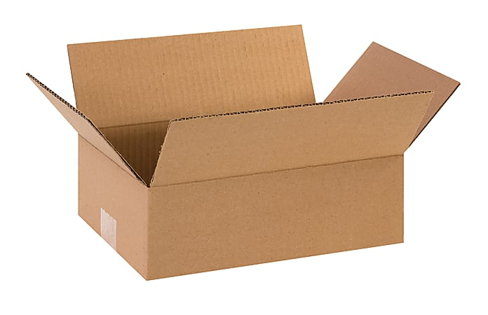 """Office Depot® Brand Corrugated Boxes, 12""""L x 8""""W x 4""""H, Kraft, Pack Of 25"""