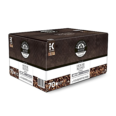 Executive Suite® Coffee Single-Serve Coffee K-Cup®, House Blend, Carton Of 70