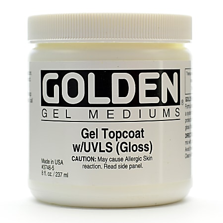 Golden Digital Mixed Media Gel Topcoat With UVLS, Gloss, 8 Oz