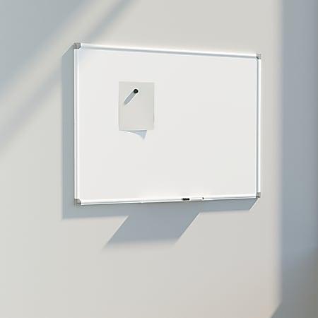 """U Brands Magnetic Dry Erase Porcelain Steel Board, 48"""" X 36"""", White Aluminum Frame"""