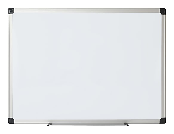 """Office Depot® Brand Non-Magnetic Melamine Dry-Erase Whiteboard, 36"""" x 48"""", Aluminum Frame With Silver Finish"""