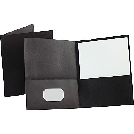 Esselte® Letter-Size Twin-Pocket Report Covers, Black, Box Of 25