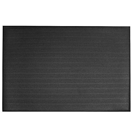 M + A Matting Sure Cushion Ribbed Mat, 4' x 8', Charcoal