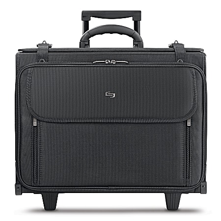 """Solo New York Morgan Rolling Hard Side Catalog Case with 17.3"""" Laptop Compartment, Black"""