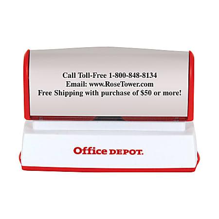 "Custom Office Depot® Brand Pre-Inked Stamp, 9/16"" x 2-15/16"" Impression"