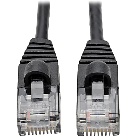 Tripp Lite Cat6a 10G Snagless Molded Slim UTP Patch Cable M/M Black 5ft 5' - Category 6a for PC, Server, Router, Printer, Patch Panel, Switch, Network Device - 1.25 GB/s - Patch Cable - 5 ft - 1 x RJ-45 Male Network - 1 x RJ-45 Male Network - Black