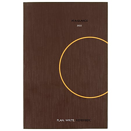 """AT-A-GLANCE® Plan. Write. Remember. Daily Planning Notebook, 6"""" x 9"""", Gray, January To December 2022, 70620130"""