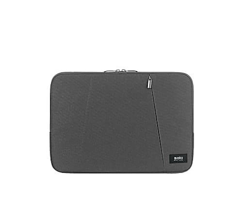 """Solo® Oswald Computer Sleeve For 13.3"""" Laptops/Tablets, Gray, SLV1613-10"""
