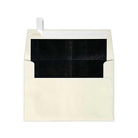 LUX Foil-Lined Invitation Envelopes A4, Peel & Press Closure, Natural/Black, Pack Of 1,000