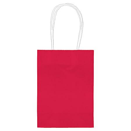 "Amscan Kraft Paper Bags, 5-1/8""H x 4""W x 2""D, Apple Red, Pack Of 24 Bags"