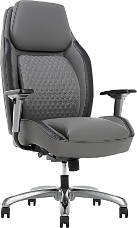 Shaquille O'Neal™ Zephyrus Ergonomic Bonded Leather High-Back Executive Chair, Gray