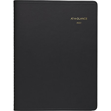 """AT-A-GLANCE® 15-Month Monthly Planner, 9"""" x 11"""", Black, January 2022 To March 2023, 7026005"""