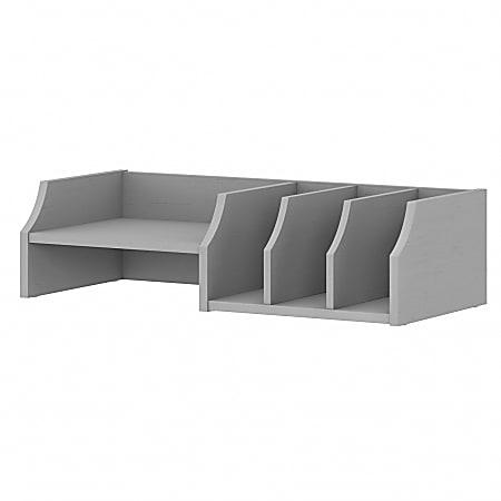 Bush Furniture Universal Desktop Organizer With Shelves, Cape Cod Gray, Standard Delivery