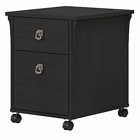 Bush® Furniture Salinas 2-Drawer Mobile File Cabinet, Vintage Black, Standard Delivery