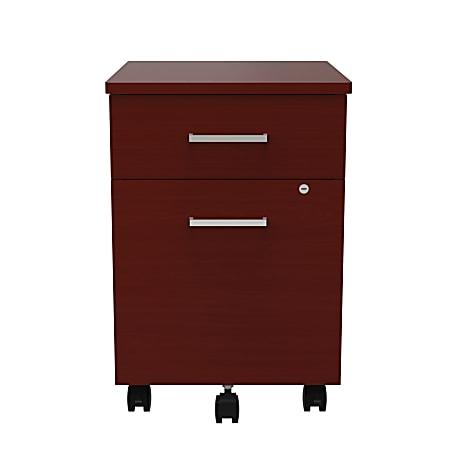 "Linea Italia, Inc 20""D Vertical Mobile File Cabinet, Cherry"