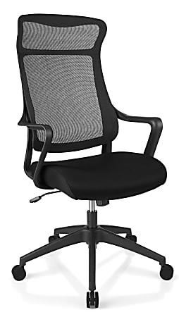 Realspace® Lenzer Mesh High-Back Task Chair, Black