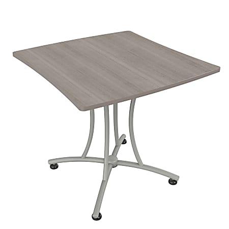 "Linea Italia, Inc Square Coffee Table, 30""H x 33""W x 31""D, Gray/Ash"
