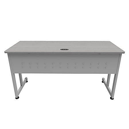 "Linea Italia, Inc. 60""W Executive Computer Desk, Gray/Ash"