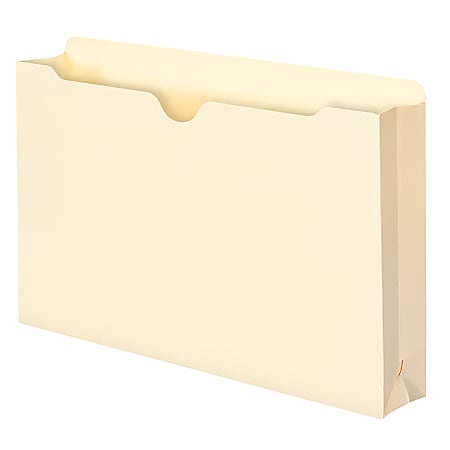 """Smead® Expanding File Jackets, Legal Size, 2"""" Expansion, 100% Recycled, Manila, Box Of 50"""