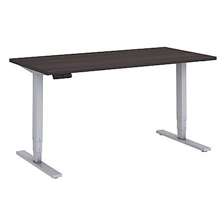"Bush Business Furniture Move 80 Series 60""W x 30""D Height Adjustable Standing Desk, Storm Gray/Cool Gray Metallic, Premium Installation"