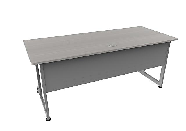 """Linea Italia, Inc. 72""""W Computer Desk, Gray/Ash"""