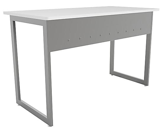 """Linea Italia, Inc. 48""""W Quattra Computer Desk, Gray/White"""