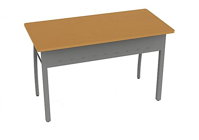 """Linea Italia, Inc. 47""""W Office Desk, Gray/Maple"""