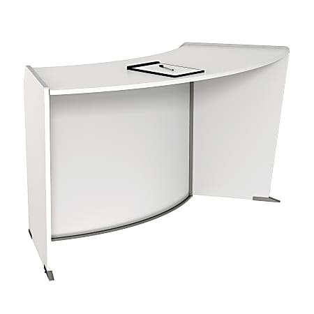 """Linea Italia, Inc 63""""W Curved ADA Reception Desk, White"""