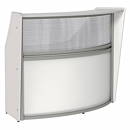 """Linea Italia, Inc 70""""W Curved Reception Desk, White"""